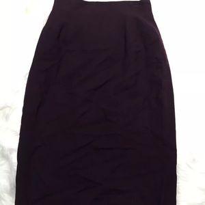DIOR 💯% authentic dark purple wool skirt size 4
